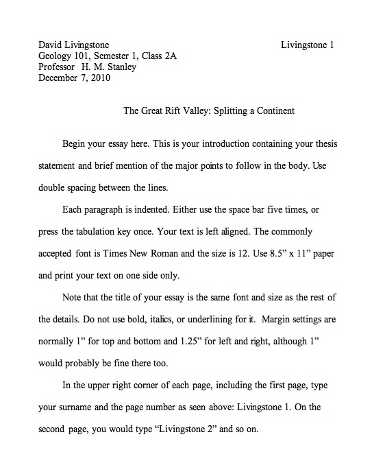 Narrative Paragraph Essay Format